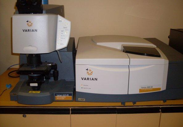 Varian Stingray 128x128 MCT Focal Plane Array Detector System Fourier Transform Infrared Spectrometer (FTIR)